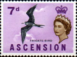 Postage Stamps Ascension 1963 Queen Elizabeth II Birds SG 75 Bird Fine Used
