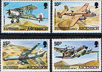 Stamps Ascension Island 1982 Wideawake Airfield Set Fine Mint