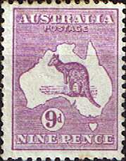 Stamps Australia 1915 Kangaroo on Map Fine Mint SG 39 Scott 50