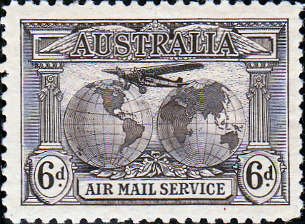 Australian Stamps Australia 1931 Official Air Service Fine Mint SG O123 Scott CO1