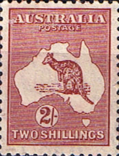 Stanps of Australia 1932 SG 134 Kangaroo on Map Fine Mint