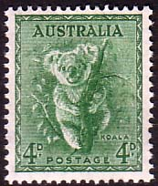 Stamps of Australia 1938 SG 188 Koala Fine Mint SG 188 Scott 171