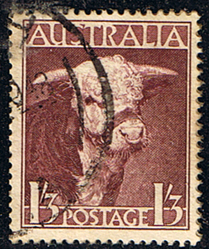 Stamps of Australia 1948 SG 223 Hereford Bull Fine Used