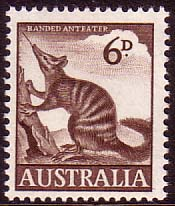 Australian Stamps Australia 1959 SG 316 Animal Numbat Fine Mint SG 316 Scott 320