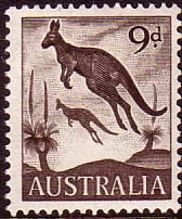 Australian Stamps Australia 1959 SG 318 Animal Eastern Grey Kangaroo Fine Mint SG 318 Scott 322