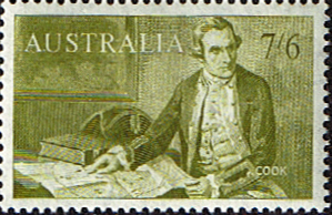 Australian Stamps Australia 1963 SG 357 Captain Cook Fine Mint Scott 376