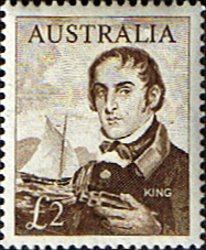 Australian Stamps Australia 1963 SG 360 King and Ship Fine Mint Scott 379