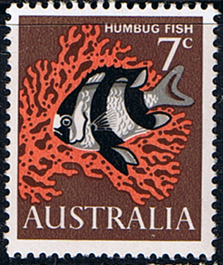 Stamps of Australia 1966 SG 388 Humbug Fish Fine Mint SG 388 Scott 402