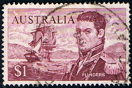 Stamps Australia 1966 SG 401 Captain Flinders and Investigator Fine Used                    SG 401 Scott 415