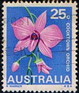 Australia 1968 State Floral Emblems  SG 424 Cooktown Orchid Fine Used