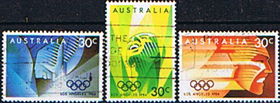 Stamps Australia 1984 Olympic Games Set Fine Used