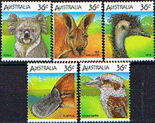 Stamps Australia 1986 Australian Wildlife Set Fine Mint
