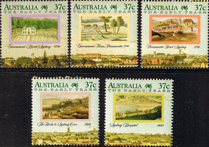Postage Stamps Australia 1988 Australian Settlement First Fleet Early Years Set Fine Mint