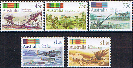Australian Stamps Australia 1992 Second World War Battles Set Fine Mint