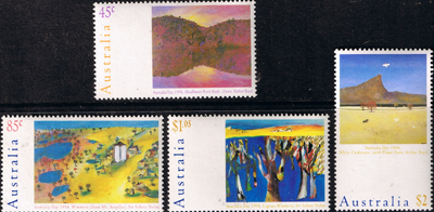 Stamps 1994 Australia Day Landscape Paintings Set Fine Mint