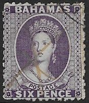 Stamps of Bahamas 1863 Queen Victoria SG 25 Fine Mint Scott 12