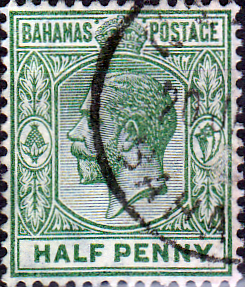 Stamps of Bahamas 1912 George V SG 82 Fine Used Scott 50