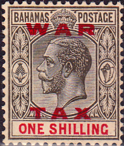 Stamps Bahamas 1919 War Tax Overprint SG 104 Fine Used Scott MR13