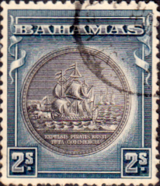 Stamps Bahamas 1931 Seal of Bahamas SG 131b Fine Used Scott 90