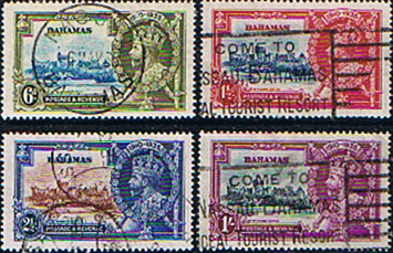 Bahamas Stamps 1935 King George V Silver Jubilee Set Fine Used