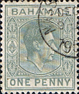 Stamps of Bahamas 1938 George VI SG 150a Fine Mint Scott 101A