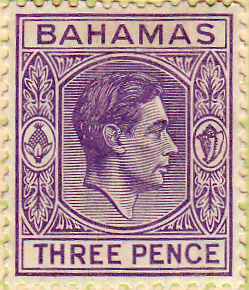 Stamps Bahamas 1938 George VI SG 154a Fine Used Scott 105A