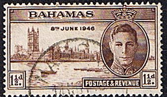 Bahamas Stamps 1946 King George VI Victory Set