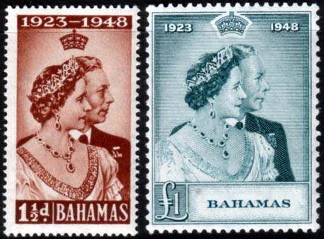 Bahamas Stamps 1948 Royal Silver Wedding