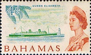 Postage Stamps of Bahamas 1965 SG 252 R.M.S. Queen Elizabeth Fine Mint Scott 208