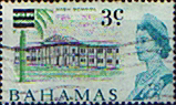 Bahamas 1966 Decimal Surcharge SG 275 High School Fine Used