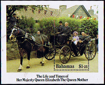 Stamp Stamps Bahamas 1985 Queen Mother Life and Times Miniature Sheet Fine Mint