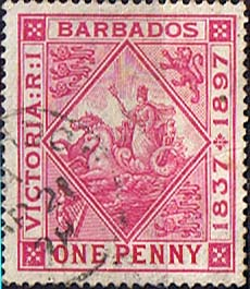 Barbados 1897 Diamond Jubilee SG 118 Fine Used