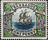 Stamps of Barbados 1906 Terecentenary of annexation SG 152 Fine Mint