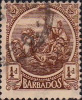 West Indies Stamps Barbados 1921 Seal of the Colony SG 220 Fine Used SG 220 Scott 154