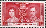 Barbados 1937 King George VI Coronation SG 245 Fine Mint