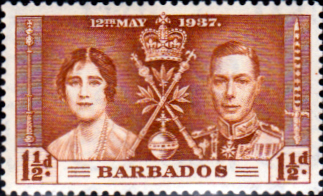 Barbados 1937 King George VI Coronation SG 246 Fine Mint
