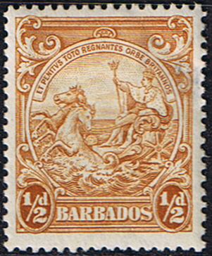 Postage Stamps Barbados 1938 Badge of the Colony SG 248c Scott 193a Fine Mi