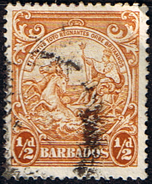West Indies Stamps Barbados 1938 Badge of the Colony SG 248c Scott 193a Fine Used