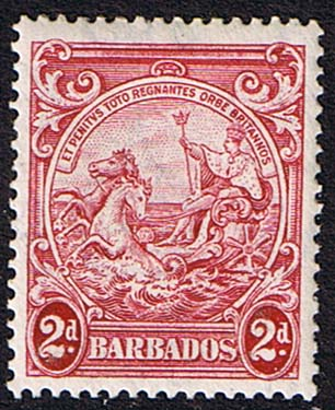 Postage Stamps Barbados 1938 Badge of the Colony SG 250c Fine Mint