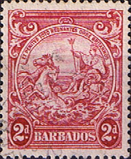 West Indies Stamps Barbados 1938 Badge of the Colony SG 250c Fine Used