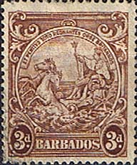 Barbados 1938 Badge of the Colony SG 252 Fine Used
