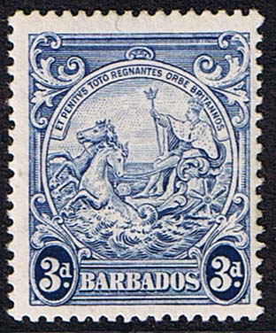 Postage Stamps Barbados 1938 Badge of the Colony SG 252c Scott 197A Fine Used