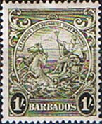 Barbados 1938 Badge of the Colony SG 255a Fine Mint