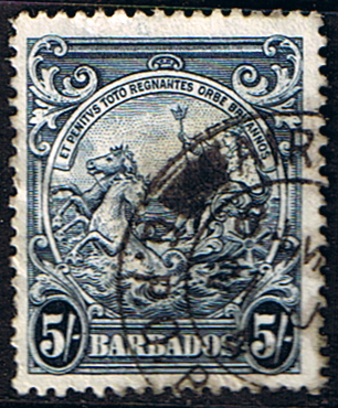 Stamps Barbados 1938 Badge of the Colony SG 250 Fine Used SG 256a Scott 202