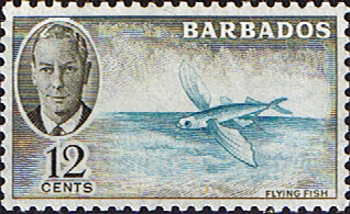 Barbados 1950 SG 277 Flying Fish Fine Mint