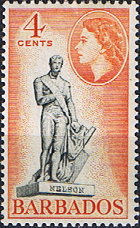 West Indies Stamps Barbados 1953 QE II SG 292 Statue of Nelson Fine Mint