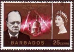 Stamps of Barbados 1966 Churchill SG 339 Fine Used