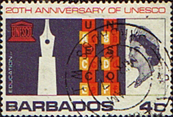 Postage Stamps of Barbados 1966 UNESCO SG 360 Fine Used