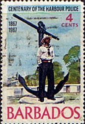 Stamps of Barbados 1967 Centenary of Harbour Police SG 363 Fine Used