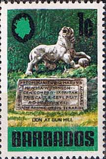 Postage Stamps Barbados stamps 1970 SG 399 Lion at Gun Hill Fine Mint
